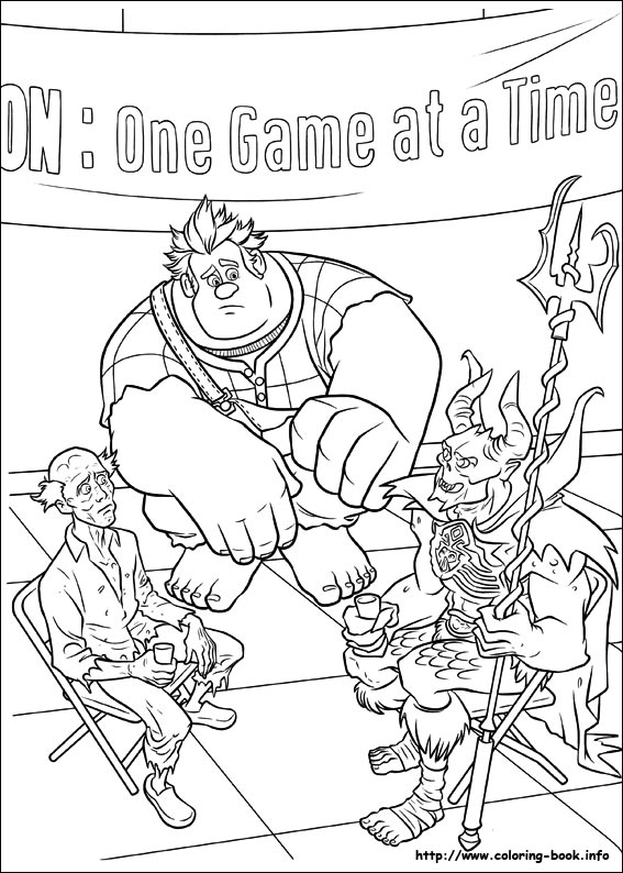 Wreck it ralph coloring picture