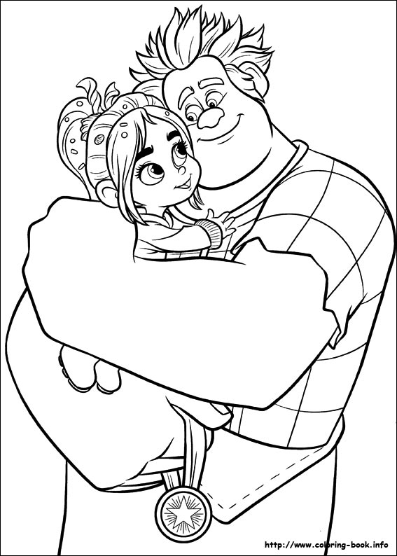 Wreck It Ralph Coloring Pages On Book