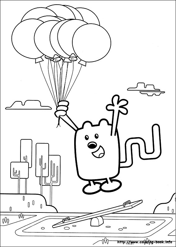 Wow Wubbzy Coloring Pages On Book
