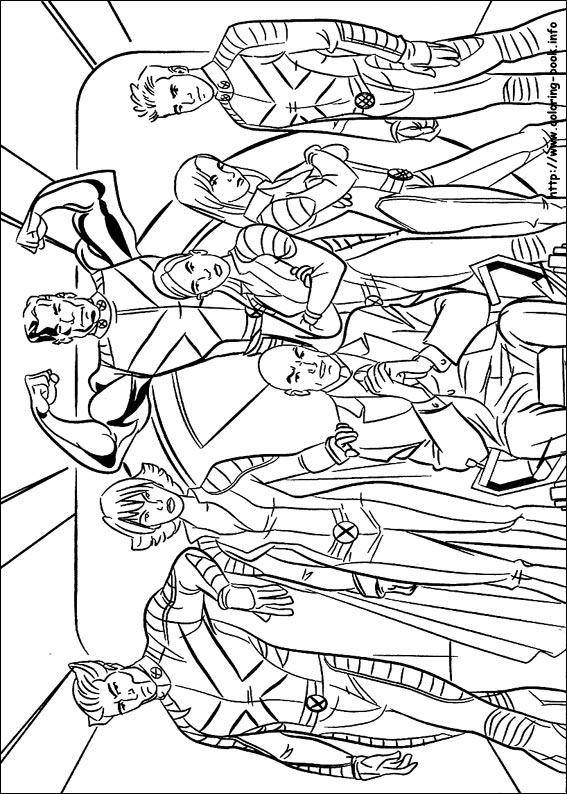 X Men Coloring Picture