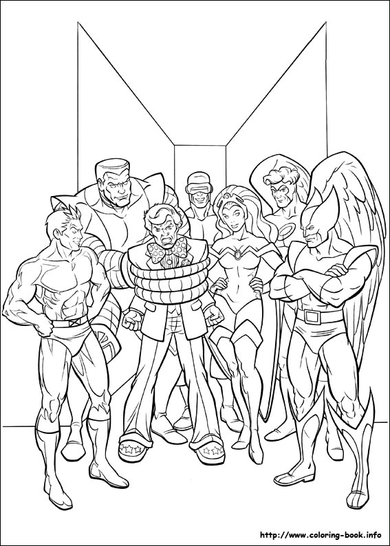 x man coloring pages - photo #6