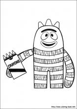 Yo Gabba Gabba coloring pages on ColoringBookinfo