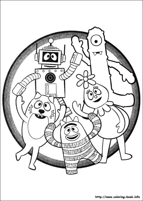 Yo Gabba Gabba! coloring pages on Coloring-Book.info