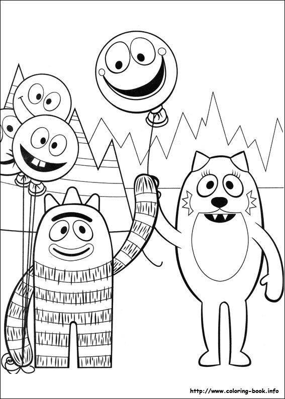 Yo Gabba Gabba Coloring Pages Captivating Gabba Gabba Coloring Picture 2017