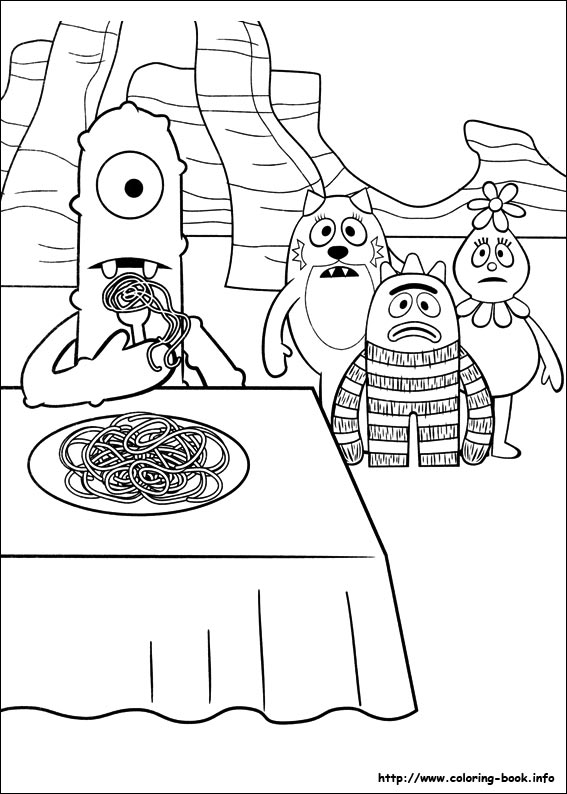 Yo Gabba Coloring Pages On Book