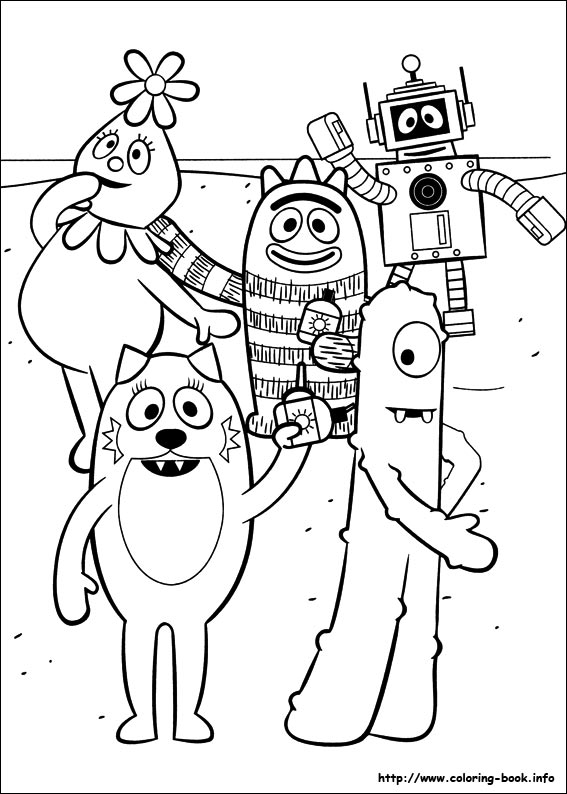 Yo Gabba Coloring Picture