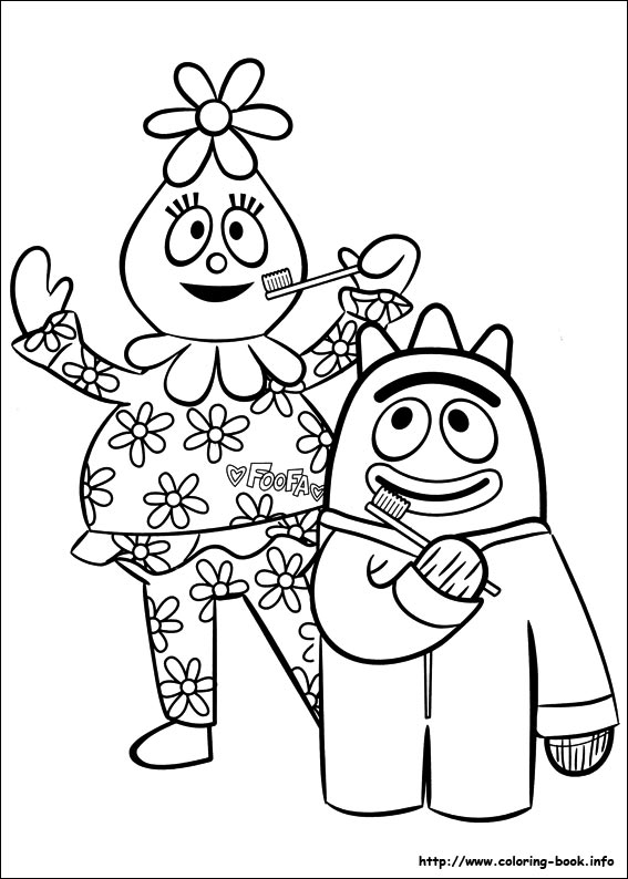yo gabba gabba coloring pages Yo Gabba Gabba! coloring picture yo gabba gabba coloring pages