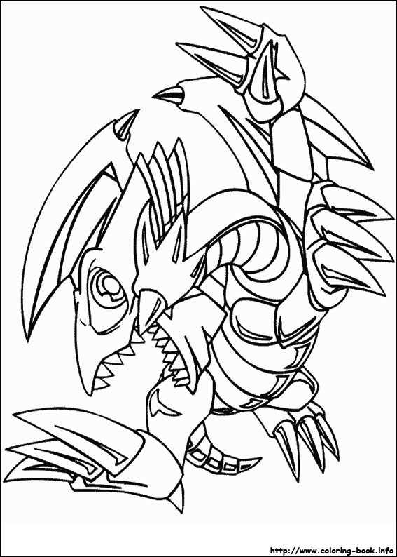 Gi-Oh coloring picture