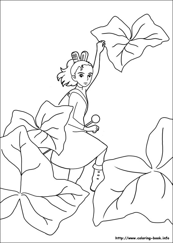 Arrietty coloring book