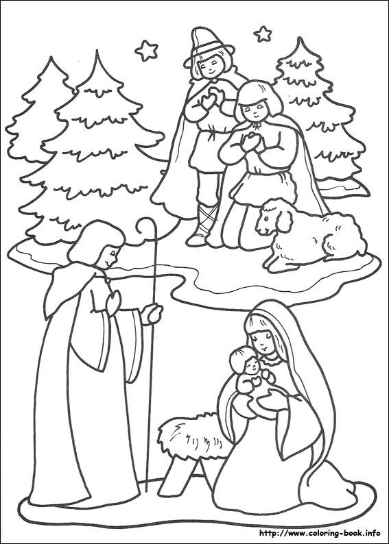 Раскраски по теме рождество христово