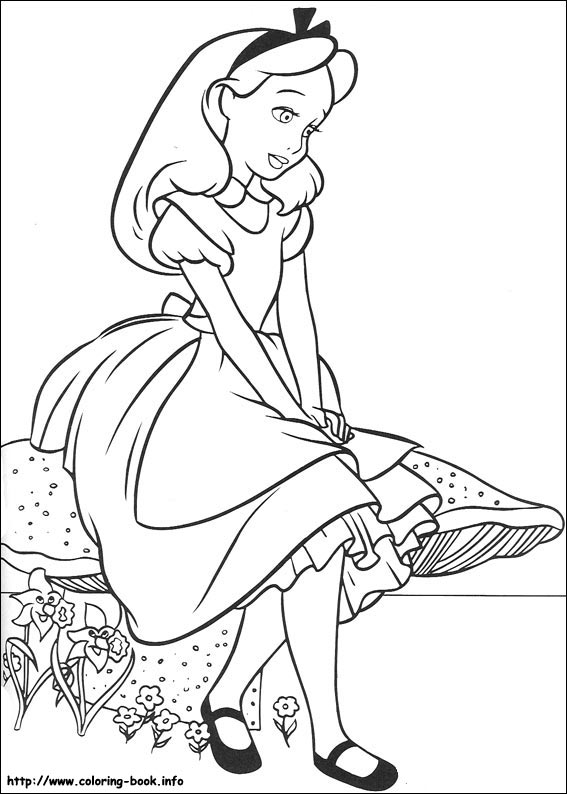 - Alice In Wonderland Coloring Picture
