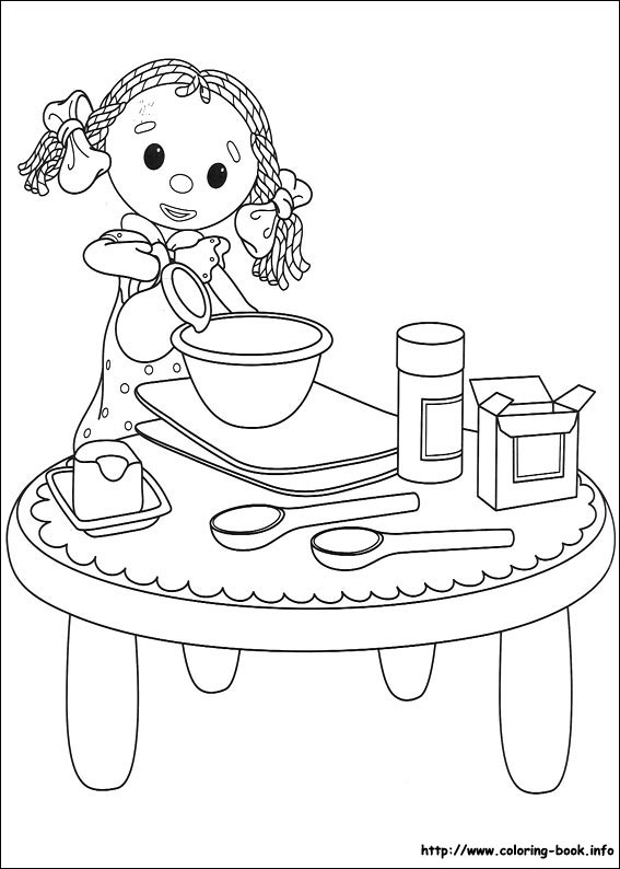 Andy Pandy Coloring Picture