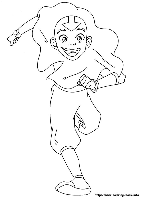 Avatar The Last Airbender color page - Coloring pages for kids ... | 794x567