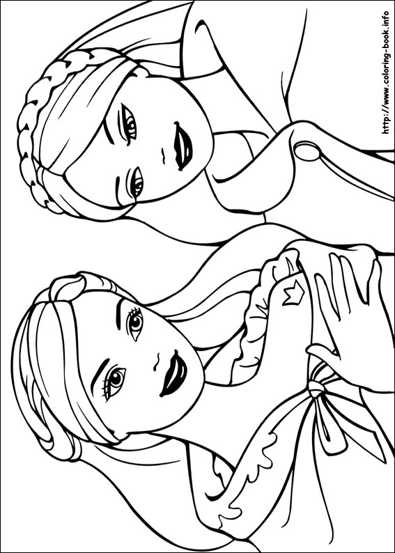 Barbie Coloring Page: The Princess and The Pop Star + Trailer ... | 794x567