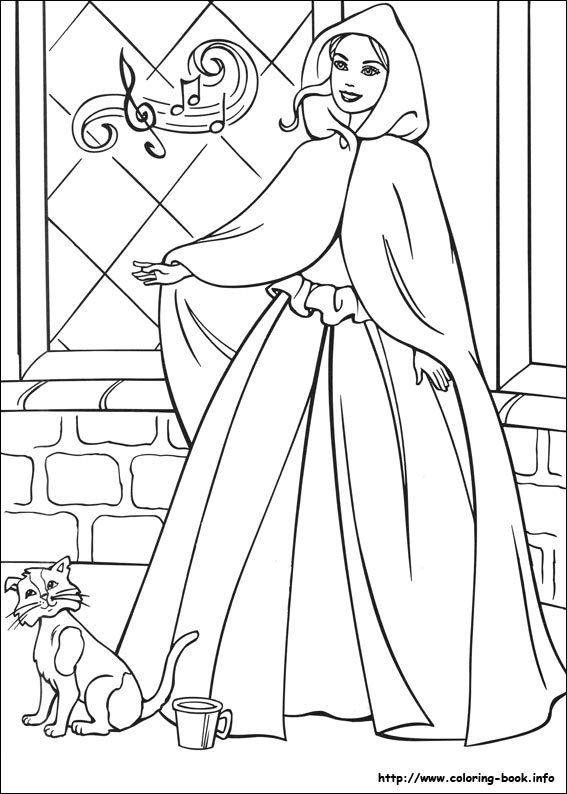 Barbie As The Princess And The Pauper Coloring Picture
