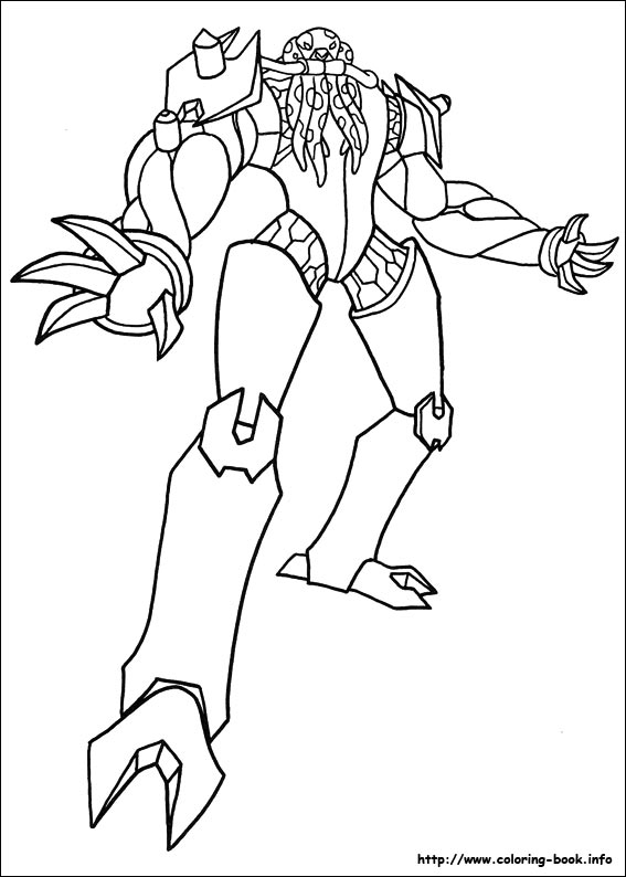 Ben 10 Ultimate Alien Fibian Coloring Pages | Coloring Pages