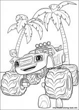 Blaze Monster Machine Coloring Pages Coloring Pages
