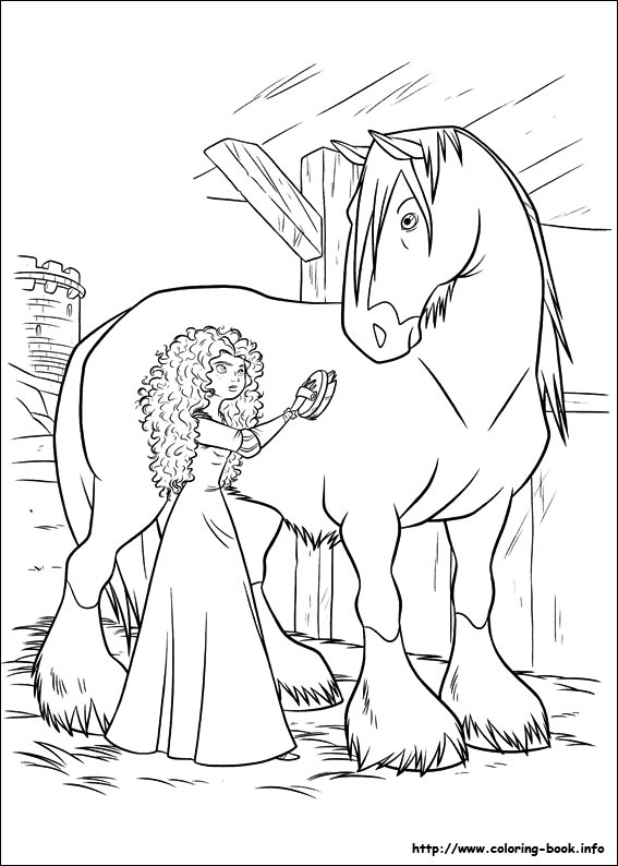 brave coloring pages on book info