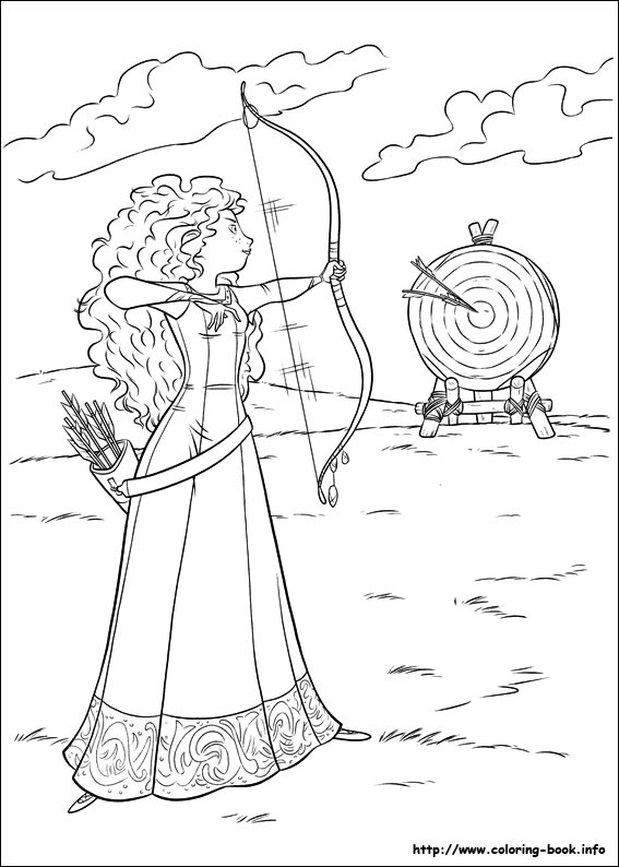 Free Coloring Pages Brave Coloring Pages