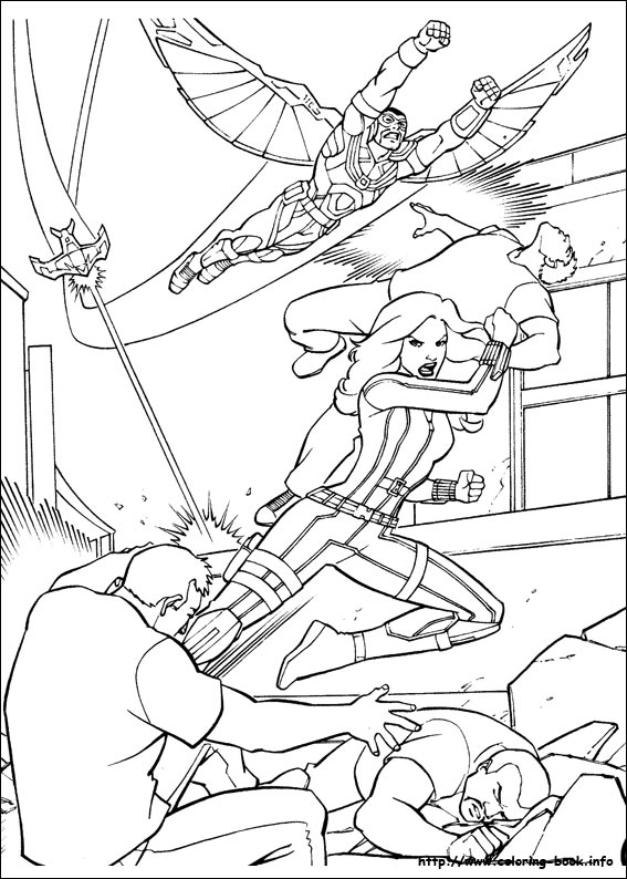 Captain America: Civil War coloring picture