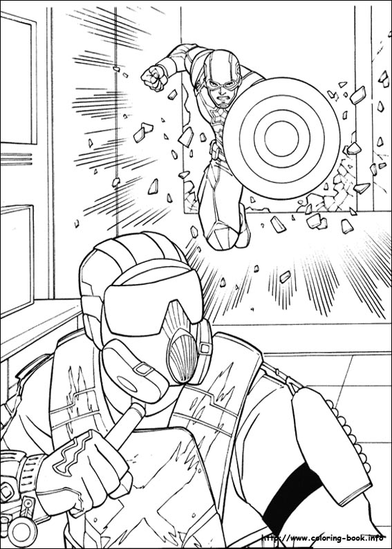 Captain America Civil War Coloring Picture