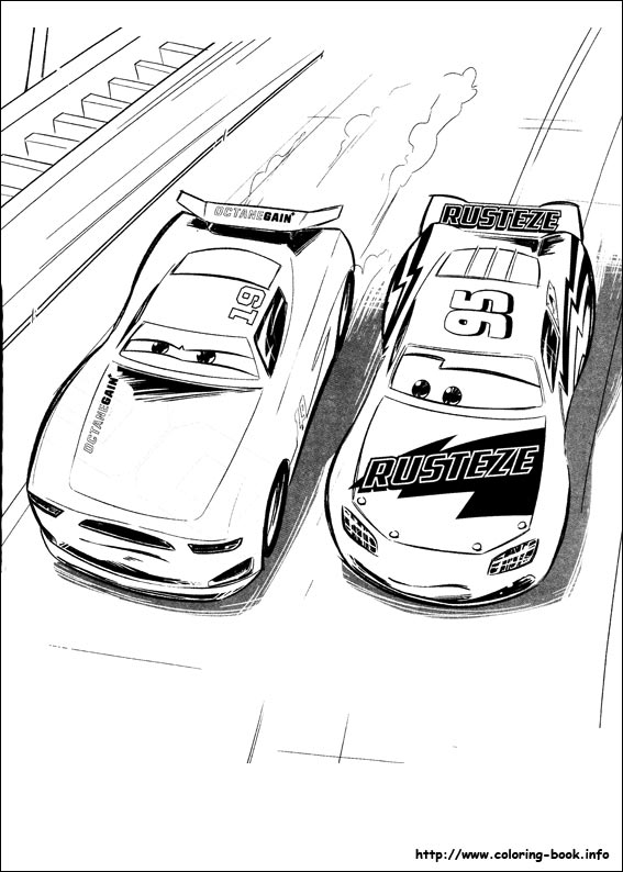 - Cars 3 Coloring Picture