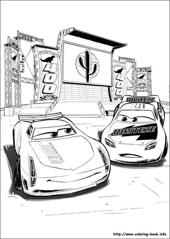 Cars 3 Coloring Picture