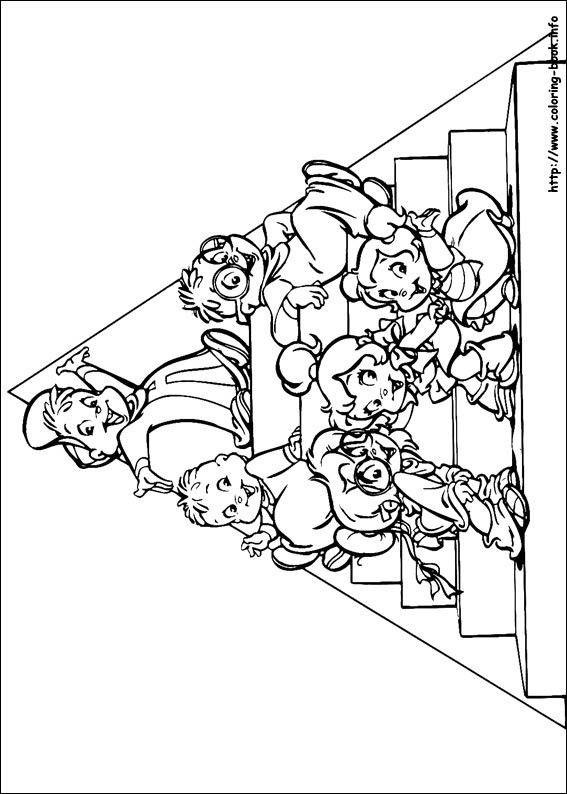Alvin and the Chipmunks coloring picture