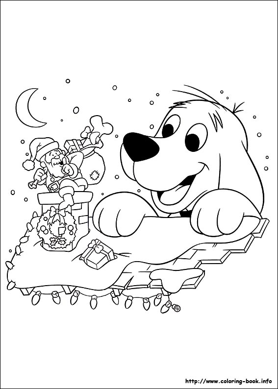 - Christmas Friends Coloring Picture