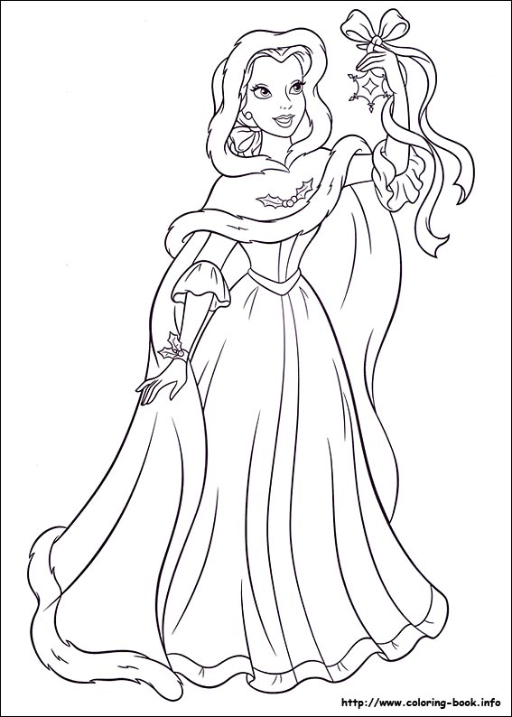 Christmas Princess Coloring Pictures | Coloring Pages
