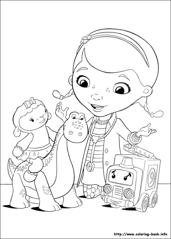 Doc Mcstuffins Coloring Pages On Coloring Book Info