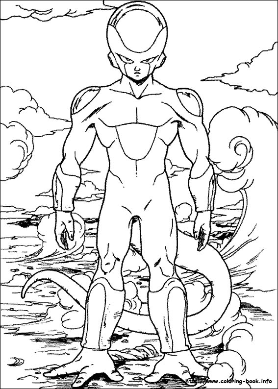 Dragon Ball Z Coloring Picture
