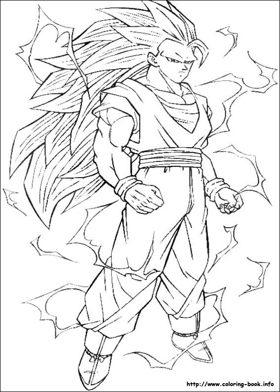 photograph regarding Dragon Ball Z Coloring Pages Printable titled Dragon Ball Z coloring visualize