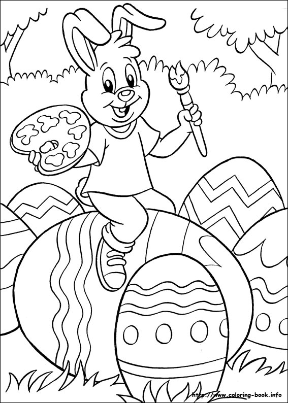 Easter Coloring Book Pages | Coloring Page