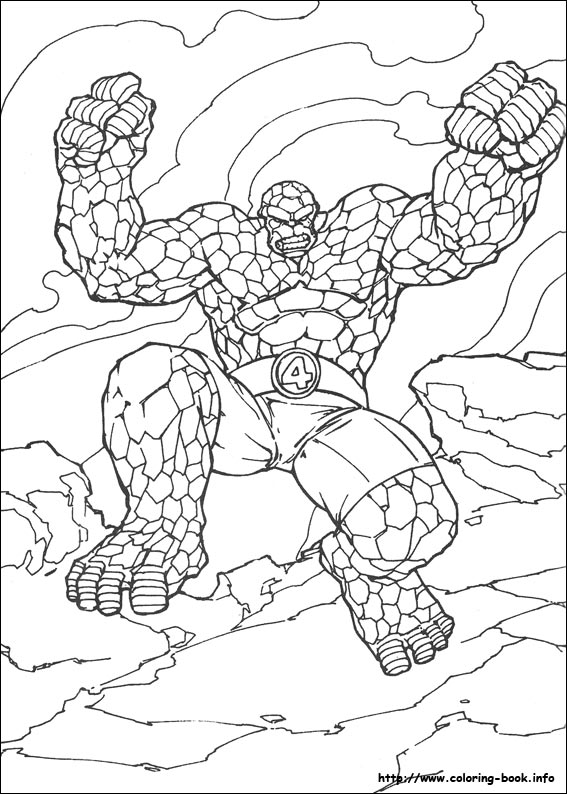 Fantastic Four Coloring Page (15) Coloring Page - Free Fantastic ... | 794x567