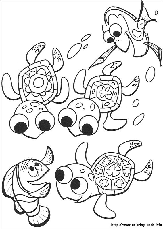 Finding Nemo Coloring Pages On Coloring Book Info
