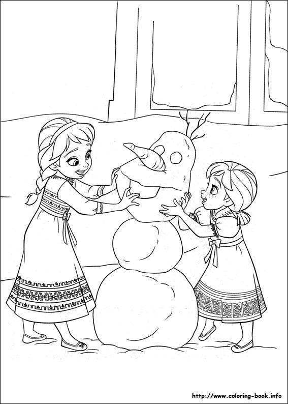 Frozen Coloring Picture