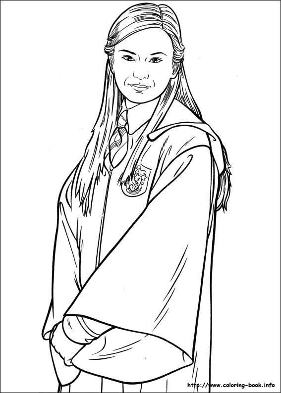 Harry Potter Coloring Pages Ginny Weasley | Coloring Pages