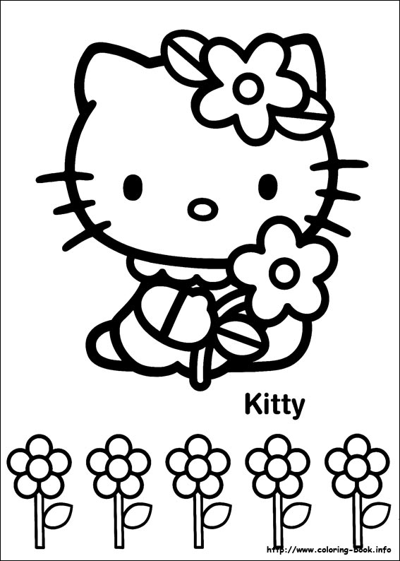 Coloriage Fleur Hello Kitty.Hello Kitty Coloring Picture