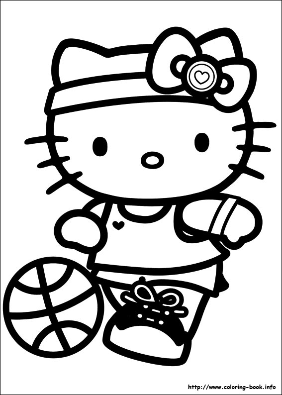 Hello Kitty coloring picture