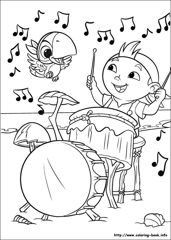 Jake And The Neverland Pirates Coloring Pages Jake Pirate Coloring ... | 794x567