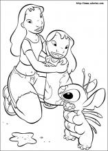 Lilo And Stitch Coloring Pages On Coloring Book Info