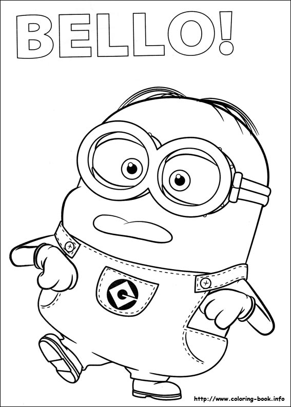 It is a photo of Printable Minions Coloring Pages with regard to pdf