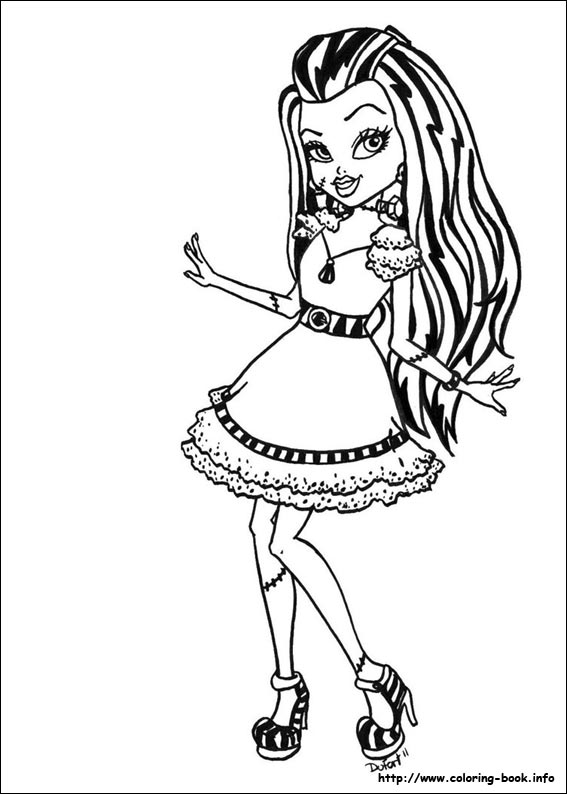 Monster High coloring pages : girls coloring series - BIG ...