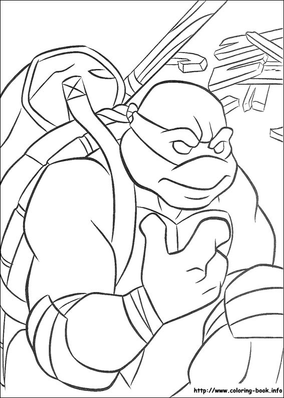 Rise of Teenage Mutant Ninja Turtles Coloring Page - Get Coloring ... | 794x567