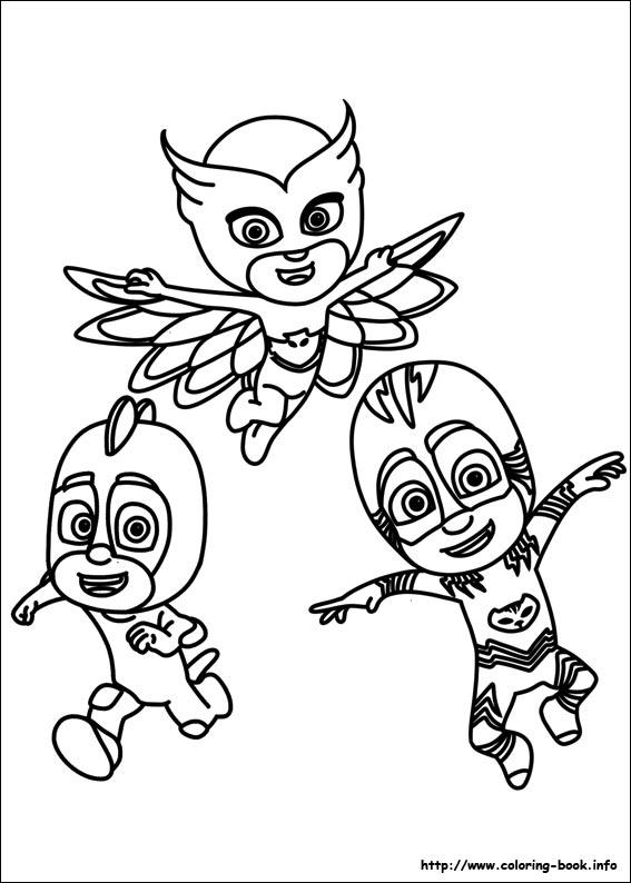 PJ Masks Coloring Picture