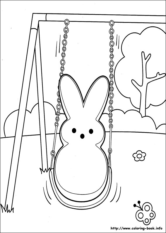 Marshmallow Peeps coloring pages on Coloring-Book.info | 794x567