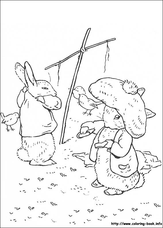 - Peter Rabbit Coloring Picture