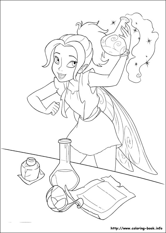 Printable Tinkerbell Coloring Pages in 2020 | Fairy coloring pages ... | 794x567