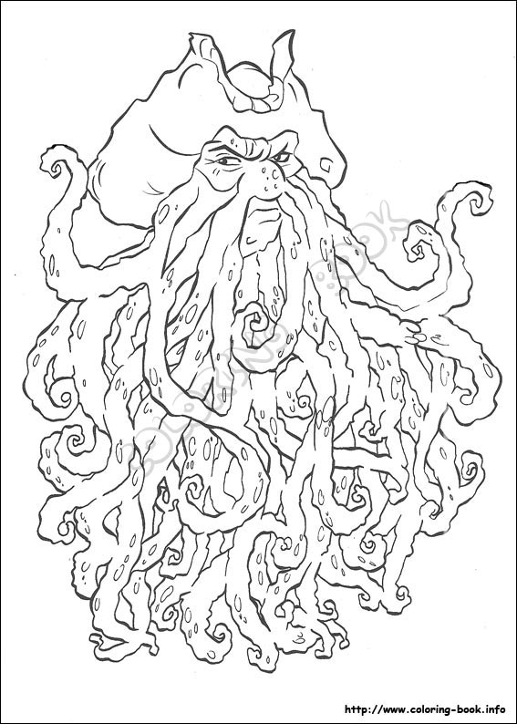 Pirates Of The Caribbean Coloring Picture